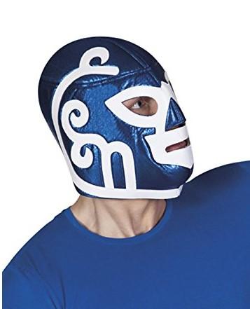 Máscara de Lucha luchador mexicano azul adulto